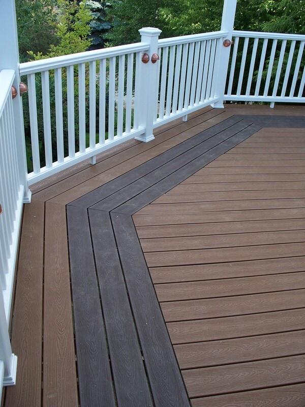 Raised octagonal deck